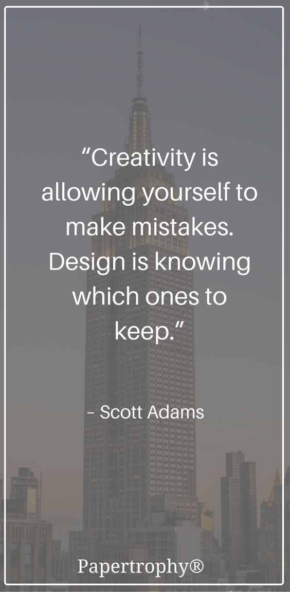 Creativity is allowing yourself to make mistakes. Design is knowing which ones to keep.
