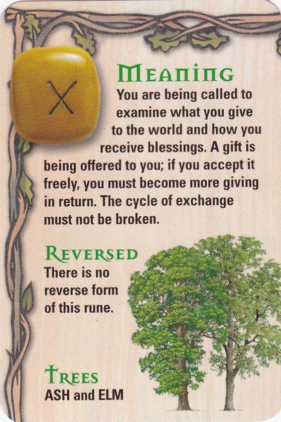 ☆ The Rune - Geofu - G - Gift ☆ El intercambio , la generosidad , el regalo…