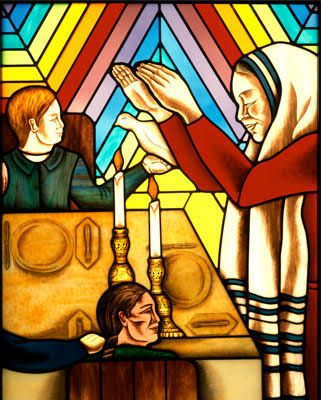 Judy-Chicago-artist-Rainbow-Shabbat-painting.jpg 321×400 pixels