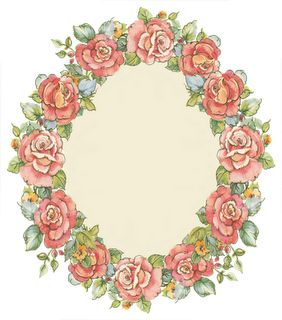 Beautiful rose frame: