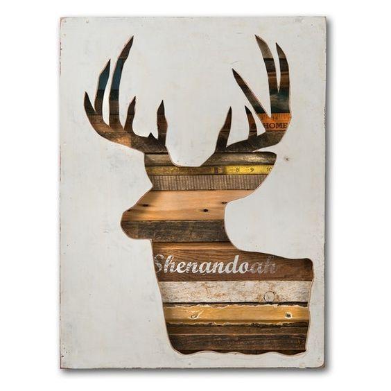 Deer Head rustic modern