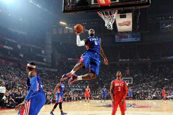 LeBron James, 2013 #NBA All-Star Game. Credit: Bleacher Report.