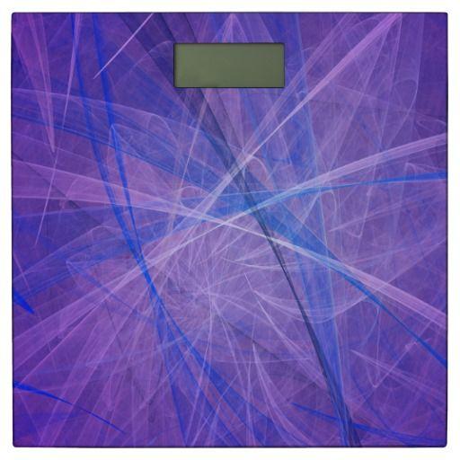 Blue fractal bathroom scale