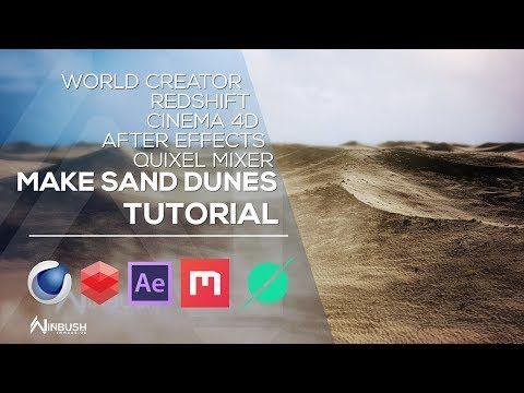 Create Sand Dunes With World Creator Mixer Cinema 4d
