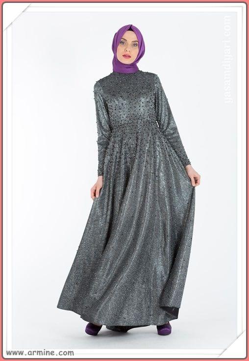 Armine Tesettur Abiye Modelleri 2019 Lookbook Elbise Modelleri Moda Elbise