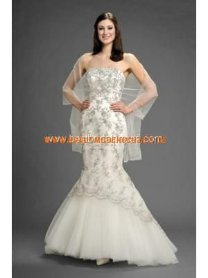 Meerjungfraustil schönes Brautkleid aus Organza und Spitze