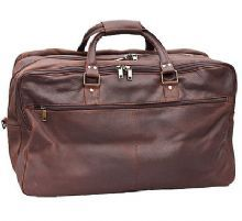Prime Hide Distressed Leather Holdall Travel Bag