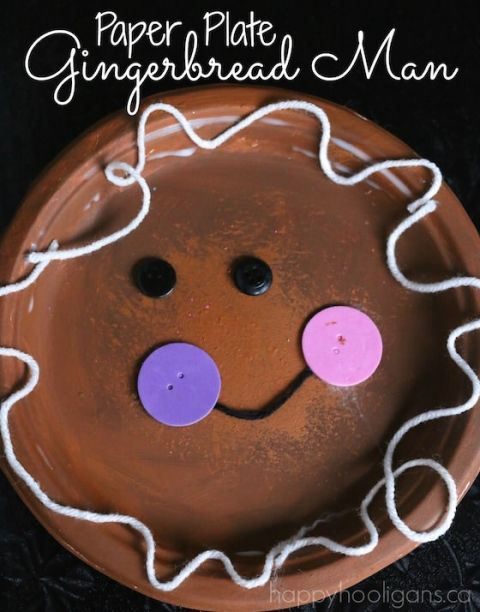 paper plate gingerbread man copy