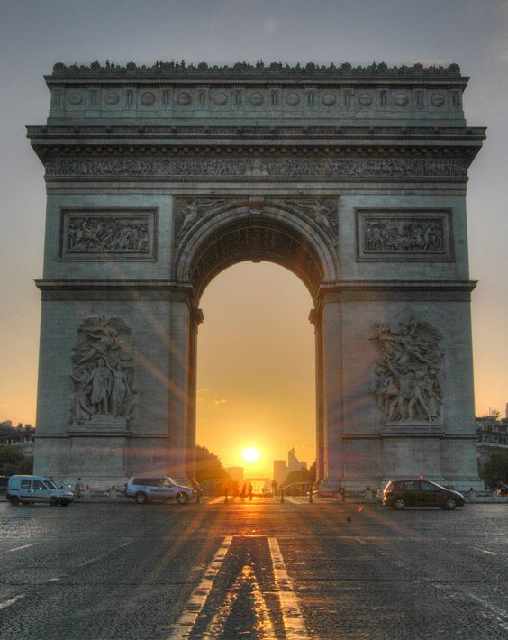 Paris - Arc de Triomphe at Sunset: