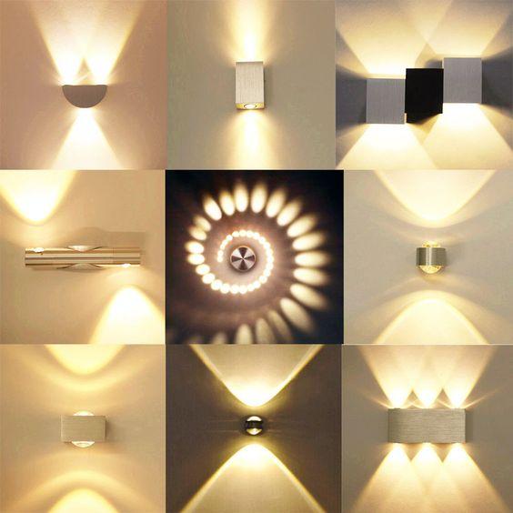 Design Wandleuchte LED Wandlampe Flurlampe Badlampe Deckenleuchte Warmweiss DHL in Möbel & Wohnen, Beleuchtung, Wandleuchten   eBay