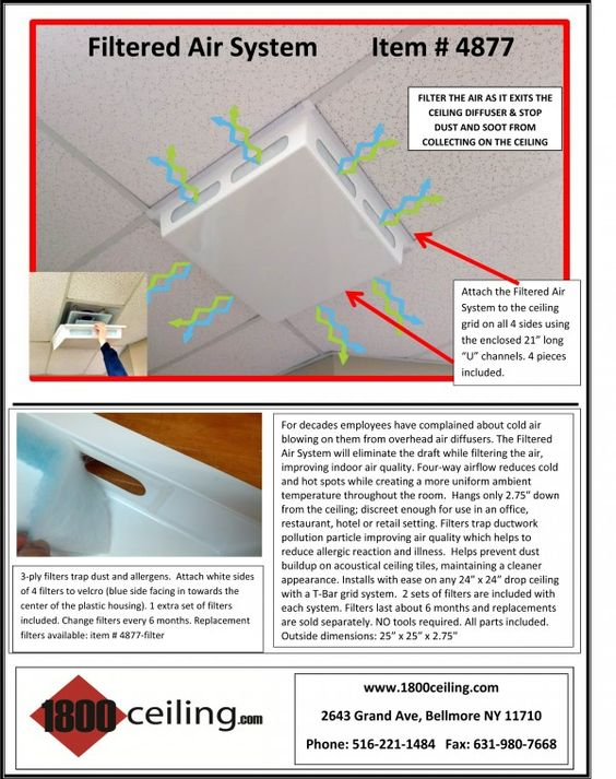 Air Vent Filter System 1800ceiling Ceiling Diffuser Ceiling Grid Diffuser
