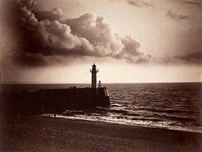Lighthouse and Jetty, Le Havre, Gustave Le Gray