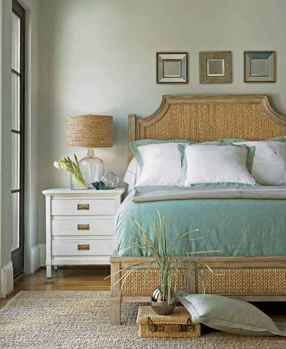 Decorating With Distressed Furniture: Beach Color Schemes, Colors And Woven Rug On Pinterest