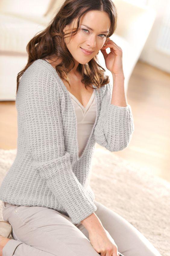 damen pullover mit v ausschnitt stricken stricken und h keln pinterest. Black Bedroom Furniture Sets. Home Design Ideas