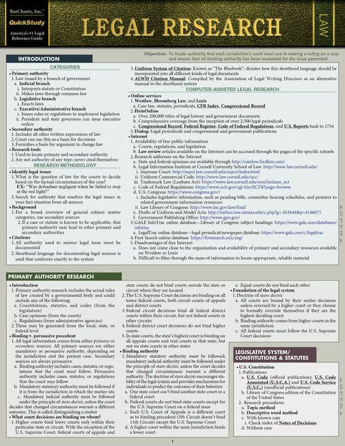 Quickstudy Legal Research Laminated Study Guide Harvard Law School Studying Law Law School Life