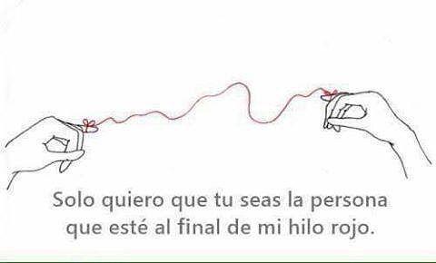 Tienes alguna persona que quieras este al final del #HiloRojo