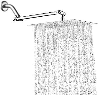 12 Inch Rain Shower Head With 11 Adjustable Extension Arm Large