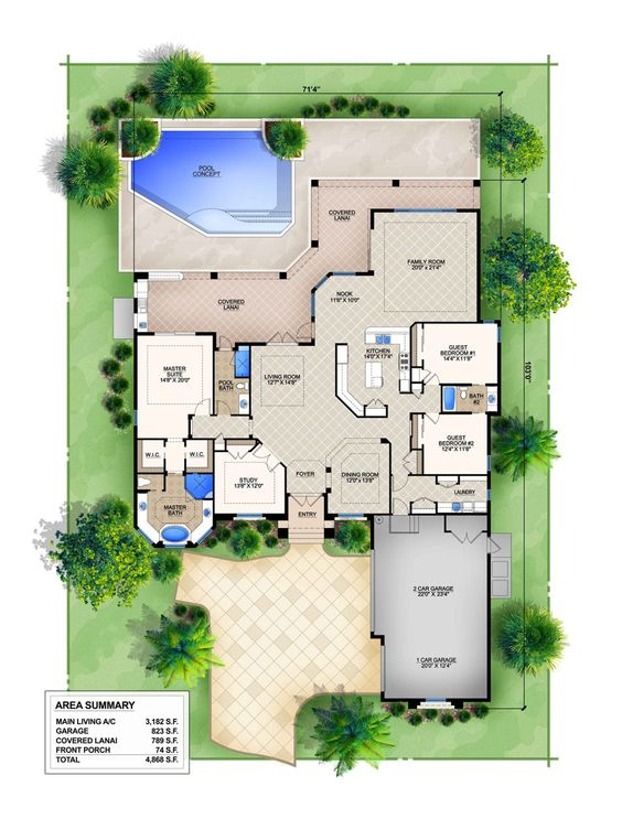 Mediterranean style homes the floor and floor plans on House plan with basement parking