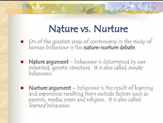 nature vs nurture articles psychology