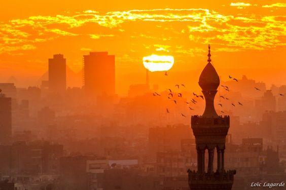 Los atardeceres más espectaculares del mundo... El Cairo