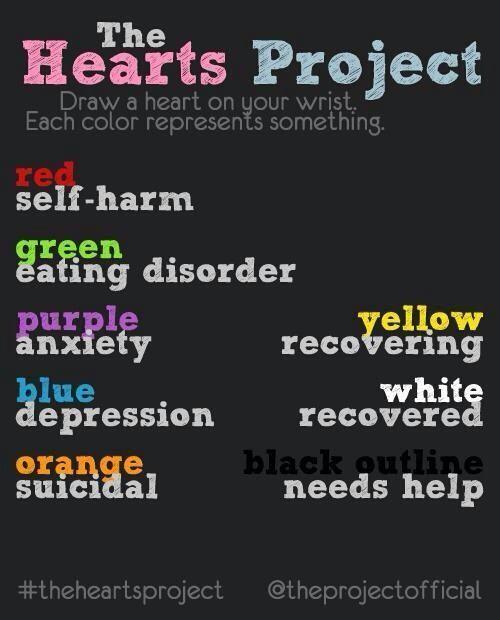 Self Harm Awareness: Semicolon, Blue Orange And Purple On Pinterest