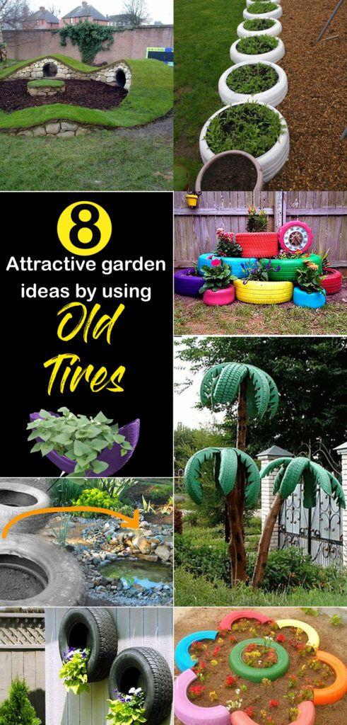 Old Tires Garden Diy Garden Projects Tire Garden Small Flower Gardens