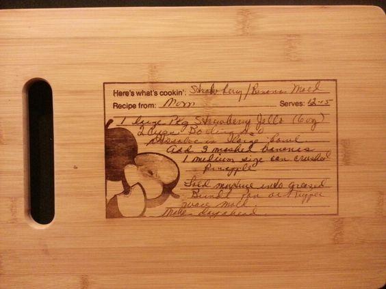 Custom cutting board for Jane