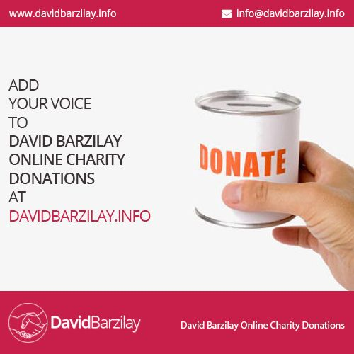 David Barzilay Fund Raising Activities For A Variety Of