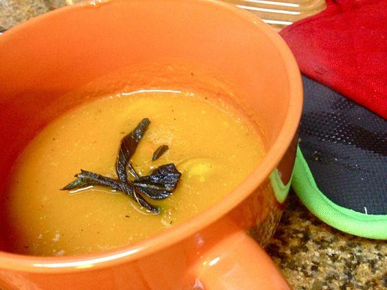 ... crispy sage   Butternut Squash Soup, Squash Soup and Chicken Apple