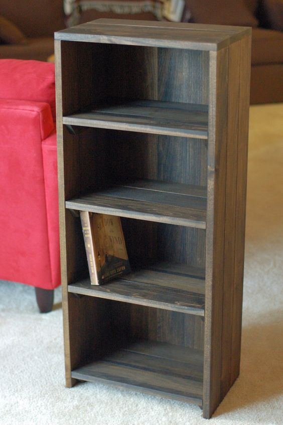 Unique Homemade Bookshelves Creating a Unique Interior Decoration : Intriguing Homemade Bookshelves In Small Design From Darkwood Finished I...
