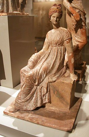 Greek terracotta from Tanagra,IV BC