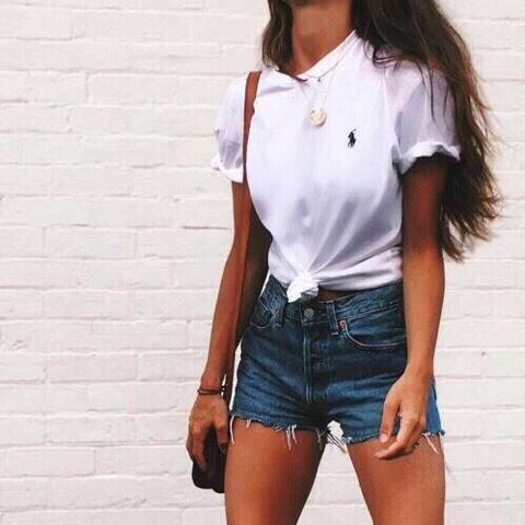 Polo top and denim