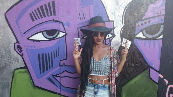 Box braids made in Brazil. Look for Afropunk Fest