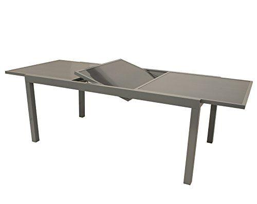 Gartenmoebel Einkauf Ausziehtisch Pisa 180 240x100cm Aluminium