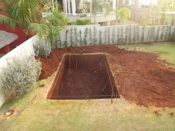 dig out this design for a diy in ground pool!   diy outdoors, Hause ideen
