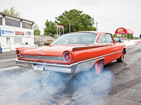 1961 Ford Galaxie Starliner Orange Crush Equipped With A 427 Single Overhead Cam