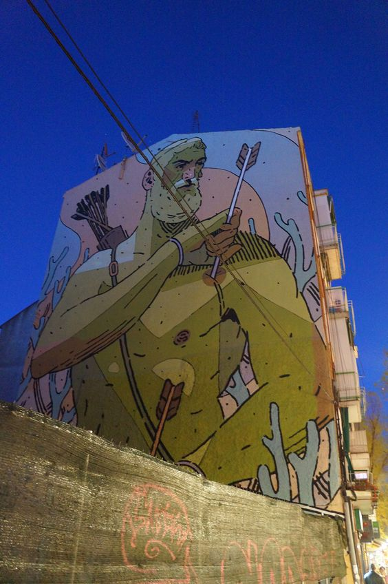 Aryz/ Villaverde Alto #Madrid #StreetArt #ArteUrbano #Arterecord 2015 https://twitter.com/arterecord