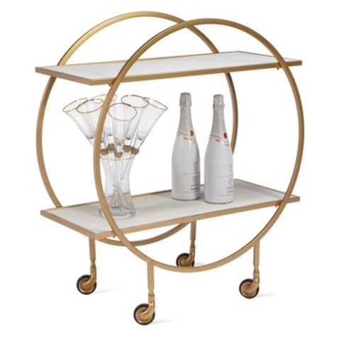 Glass Wood Dining Table, Russo Bar Cart From Z Gallerie What Is The Actual Depth Of This Piece 4 75 Stated Modern Home Bar Home Bar Counter Home Bar Areas