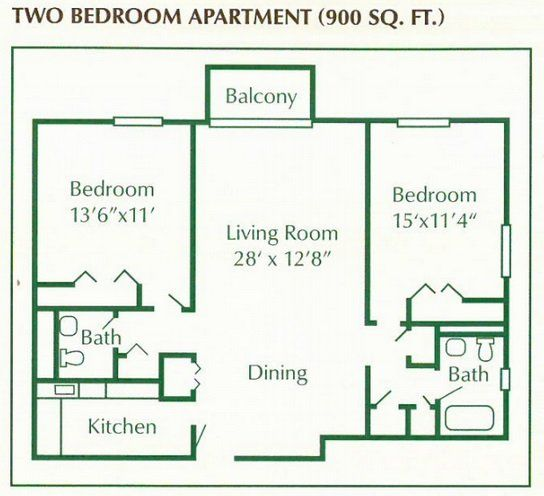 Pin By Canterbury Arms Apartments On Canterbury Arms Apartments Floor Plans Photos Apartment Floor Plan Two Bedroom Apartments Balcony Bedroom