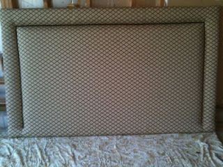 Terrie Heiser Designs....My Latest Project. An Upholstered Headboard ; )