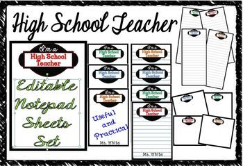 Your High School Teacher will love this elegant and stylish gift, whether jotting notes at school or using in their home office or den, they will make note-taking fun. A creative and practical gift that your child's teacher will not only appreciate, but will actually use! #tpt#notepad#teachergift#teacherspayteachers