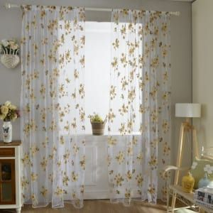 33 Impossibly Pretty Things Under 10 Floral Curtains Sheer