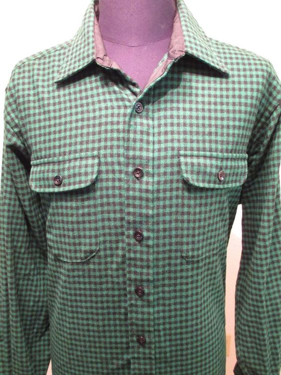 Vintage LL Bean Shirt Men's Size XL Long Plaid Flannel Wool Lumberjack Hunting #LLBean #Western