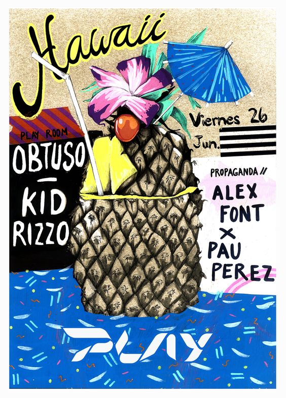 #POSTER #INSPIRATION #POOL #SUMMER #ANANAS #SUMMER #HAWAII #ILLUSTRATION #PLAY #AZUCENAGONZALEZ