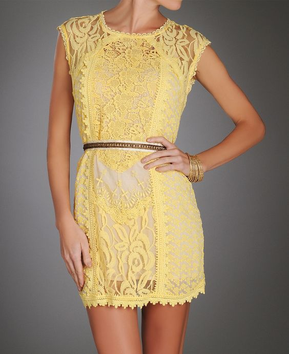 yellow lace.