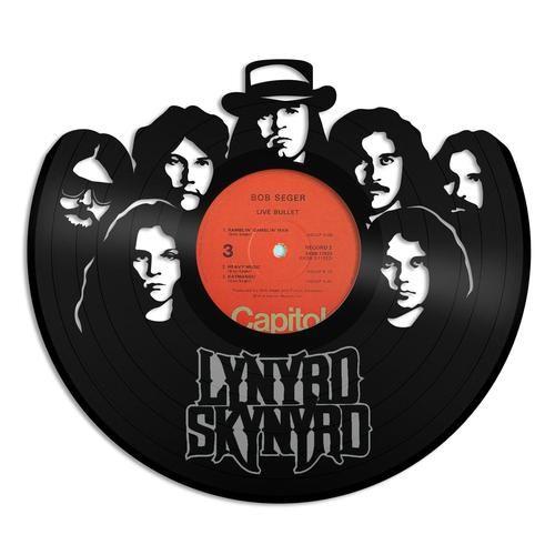 Lynyrd Skynyrd Vinyl Wall Art Music Wall Art Clock Wall Art Vinyl Wall Art