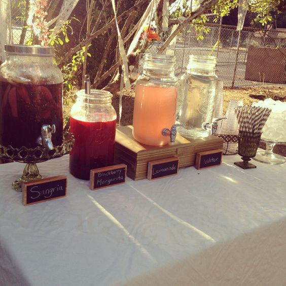 The final product: Boho Bridal Shower / Drink Station / Boutique Weddings & Events by Alicia with @meyerhollie
