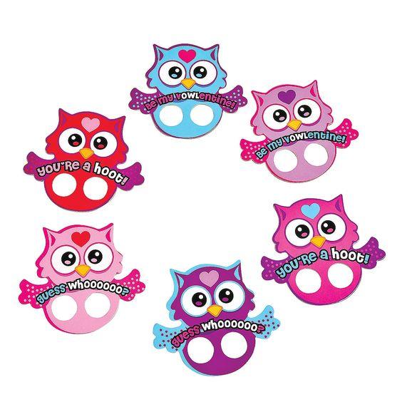 Owl Valentine Finger Puppets - OrientalTrading.com Sunnys class