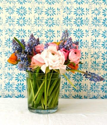Fresh flowers and tile