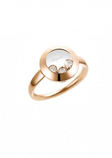 Chopard Ring Happy Curves Ring 18k rose gold and diamonds